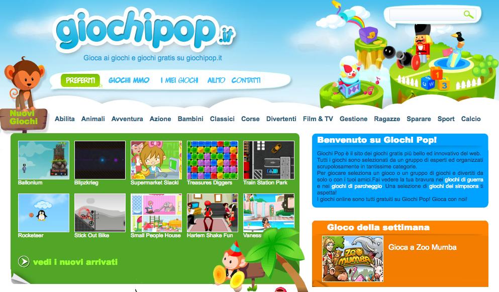 Giochipop: il portale dei giochi online gratis