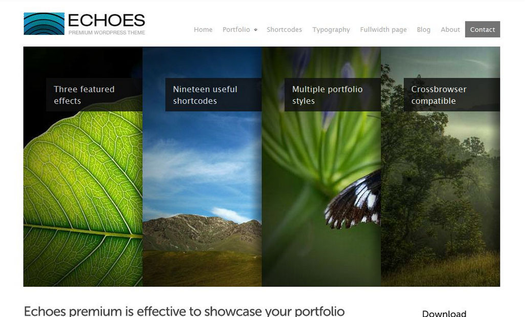 Echoes  - template premium per wordpress