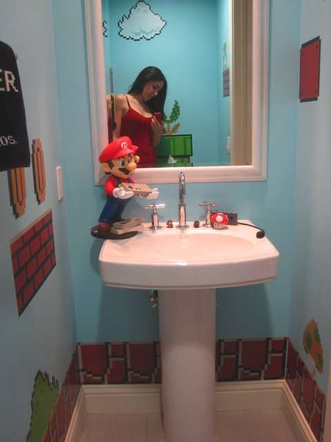 Creatività in bagno! SuperMario Bathroom