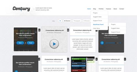 Century – Responsive WordPress Portfolio Theme