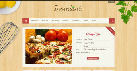 Ingredients – A Fresh Recipe WordPress Theme