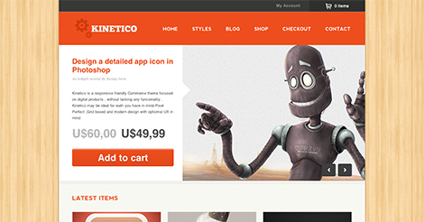 Kinetico – Responsive WordPress E-Commerce