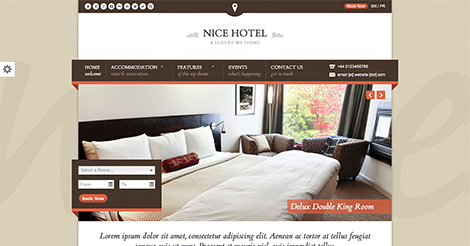 Nice Hotel – WordPress Theme