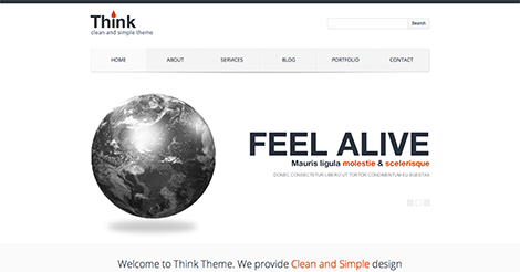 Think – Responsive Corporate WordPress Theme