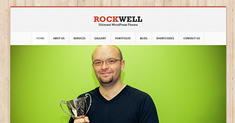 Rockwell – Fully Responsive WordPress CMS Theme