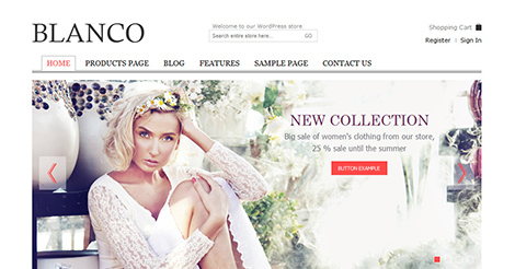 Blanco – Responsive WordPress E-Commerce Theme