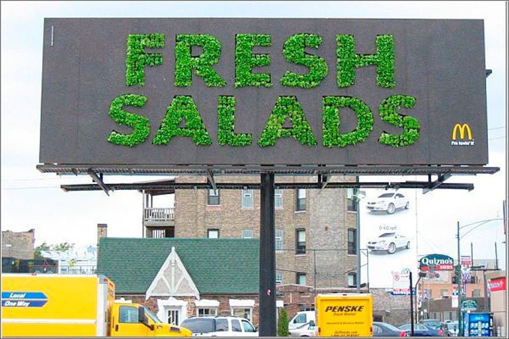 MacDonald's promuove la sua insalata