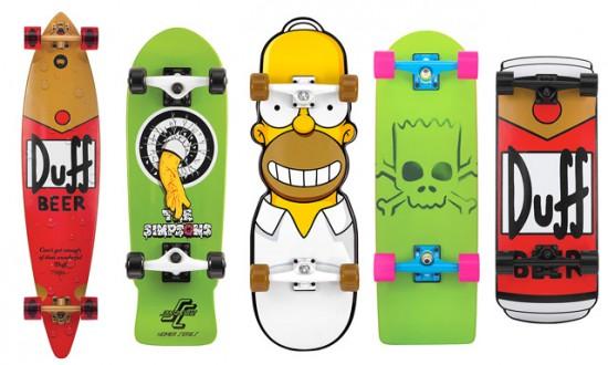 Skateboard dedicati ai Simpson