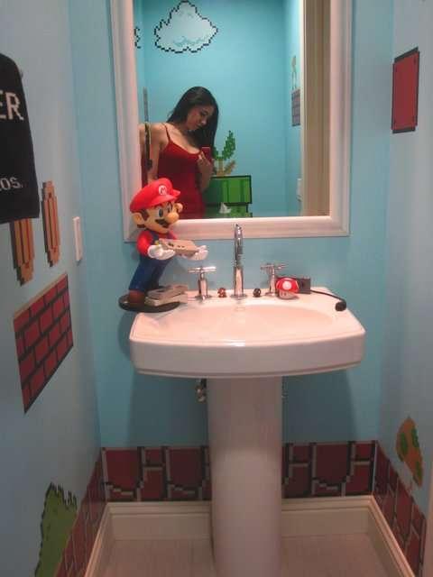 Creatività in bagno! SuperMario Bathroom