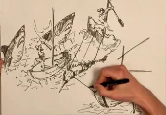 """""""Il vecchio e il mare"""" Illustrato da Marcel Schindler"""