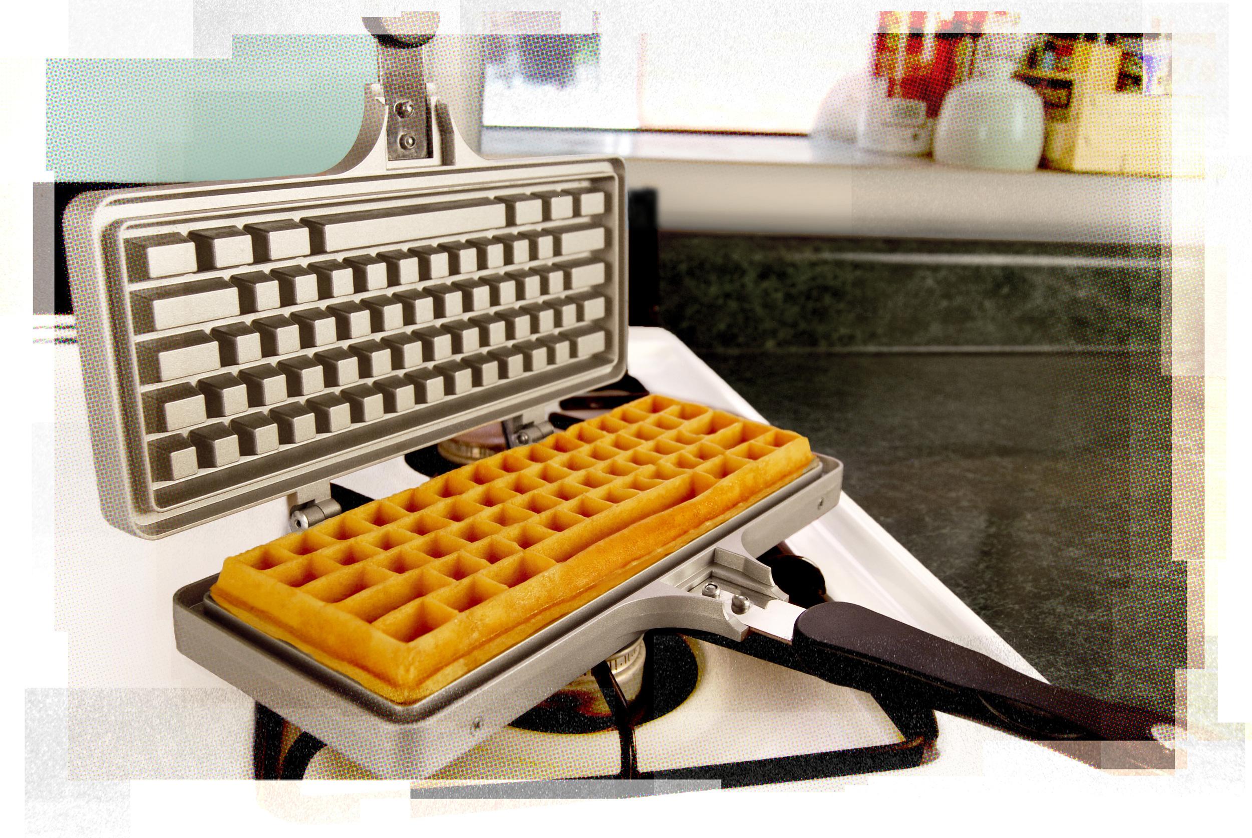 Keyboard Waffle Iron, per una colazione da nerd