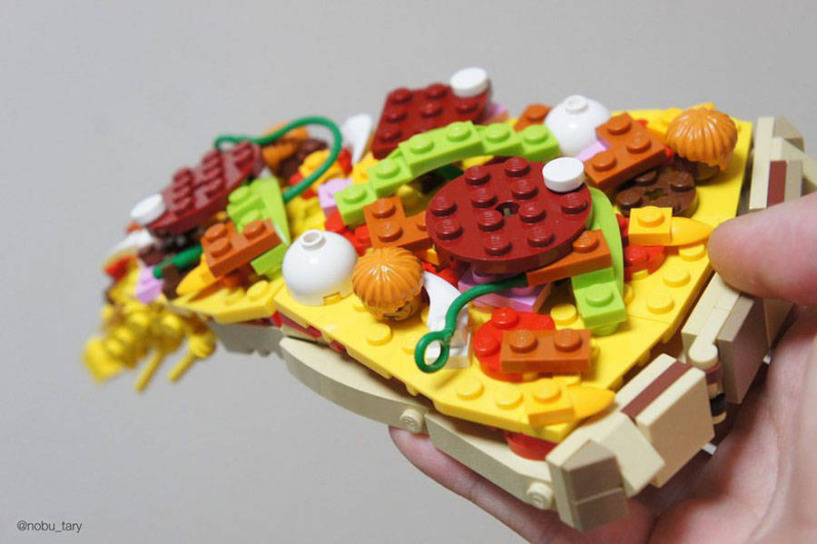 Cena a base di mattoni Lego, chef Nobu Tary